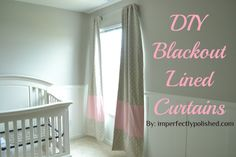 blackout curtains with color block stripe tutorial