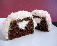 Sno-Balls, or Snowballs, are a type of snack cake made by Hostess that feature a chocolate cake surrounded by a marshmallow frosting then rolled in coconut to give it a fluffy, snowy look. Like other snack cakes made by the company, the chocolate cake centers are creme-filled.