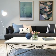 A fabulous combination of colour and texture in this living space by KMode Stylists featuring our Luca cushions in Soft Pink and Soft Blue. Find these and other beautiful colours for your home online now at www.eadielifestyle.com.au