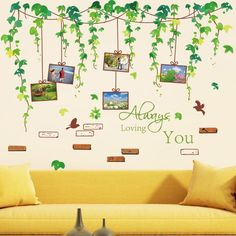 Vines Photo Frames Wall Decal