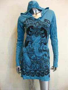Sure Design Frauen, Kleid Batman Ganesh Hoodie Turquoise