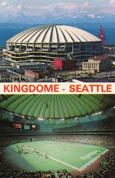 Kingdome - Seattle. Seattle Seahawks on the field.  Photo courtesy Drive-In Mike http://www.flickr.com/photos/34443508@N08/