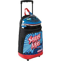 With jagged teeth and a bold design, this shark rolling bag offers kids a great way to carry their gear for overnight travel!   Shark Attax Luggage BLACK - $34.99