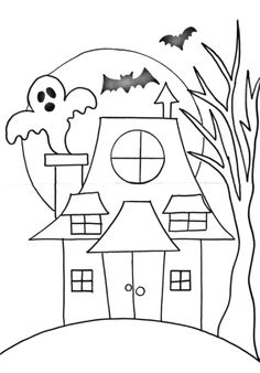 Free Traceables - Step By Step Painting - Daily Fashion Halloween Canvas, Halloween Rocks, Halloween Painting, Halloween Drawings, Halloween Haunted Houses, Halloween Crafts For Kids, Halloween Kids, Halloween Themes, Halloween Witches