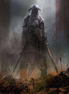 fantasyartwatch:  Skyrim Abstract by Richard Anderson: