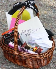 Tennis captain thank you from head to toe with gift card