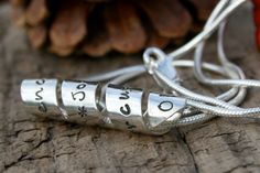 $225 - Personalised Open Love Scroll Necklace  - your secret wording on a stunning piece of jewellery