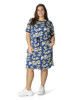Sukienki plus size Short Sleeve Dresses, Dresses With Sleeves, Fit, Plus Size, Curvy, Casual, Products, Fashion, Simple Lines
