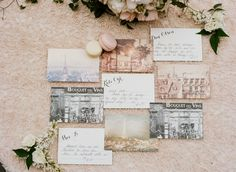 Parisian inspired paper goods by http://www.threelittlewordspaper.com,  Photography: Sylvie Gil - sylviegilphotography.com/  Read More: http://stylemepretty.com/2013/10/01/parisian-inspired-photo-shoot-from-sylvie-gil/