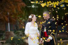 Military weddings  |  Marines  |  Fall weddings  |  Leaves  |  Lace wedding  |  Pensacola Destin Photographers  |  Pensacola  |  Aislinn Kate Photography