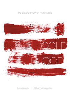 """Check out this @Behance project: """"In Cold Blood 50th Anniversary Book Cover"""" https://www.behance.net/gallery/34088028/In-Cold-Blood-50th-Anniversary-Book-Cover"""