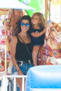 Kourtney Kardashian at the Malibu Fair with daughter Penelope