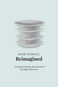 Let's face it, in a pile by the door is no way to store your shoes. See our favorite shoe storage options on the blog, featuring our NEW Revolution Ottoman! Kitchens And Bedrooms, Declutter Your Home, House Cleaning Tips, Shoe Storage, Mudroom, Home Organization, Ottoman, Entryway, Revolution
