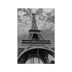 Eiffel Tower Paris France black and white photo Poster ($17) ❤ liked on Polyvore featuring home, home decor, wall art, eiffel tower poster, photo poster, parisian home decor, black & white wall art e photo wall art