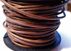 5ft  2mm Coco Brown Natural Dye Cord Leather Bracelet by KallyCo