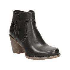 Clarks Womens Carleta Paris Boot Black Leather 65 M US ** Click image for more details.