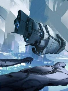 A UNSC vessel and two what I think are Covenant destroyers or frigates Sci Fi Fantasy, Fantasy World, Concept Ships, Concept Art, Stargate, Halo Ships, Starship Concept, Spaceship Design, Sci Fi Ships