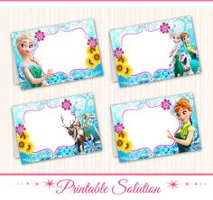 Frozen Fever Food Tents  Frozen Fever Food by PrintableSolution