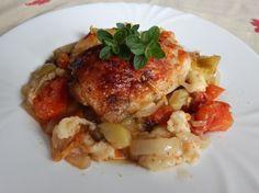 Fotorecept: Kuracie stehná pečené so zeleninou