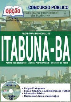 Saiba Mais -  Apostila Concurso Itabuna BA - Diversos Cargos  #apostilas Saiba como adquirir a sua http://apostilasdacris.com.br/apostila-concurso-itabuna-ba-diversos-cargos/