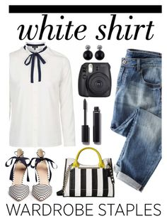 """""""White shirt"""" by pamela-802 ❤ liked on Polyvore featuring J.Crew, Steve Madden, Fuji, Chanel and WardrobeStaples"""