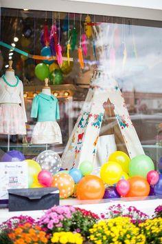 E + Me Children's Boutique ~ Window Display ~ Troy, AL