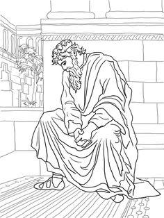 David Helps Mephibosheth coloring