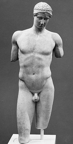 Marble statue of the so-called Stephanos Youth Late 1st century B.C. or 1st century A.D.