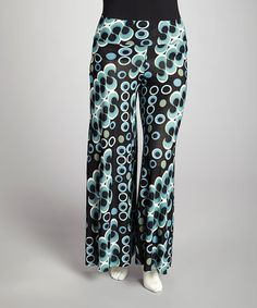 Take a look at this Blue Circles Palazzo Pants - Women & Plus by Avital on #zulily today!