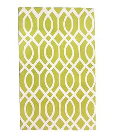 Lime & Ivory Dakota Hand-Loomed Rug by Safavieh Rugs #zulily #zulilyfinds