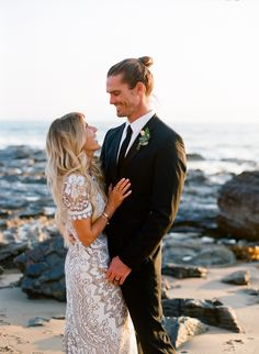 Jeff and Lisa Allen boho beach wedding in California