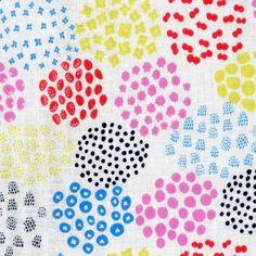 HALF YARD Pikku Saari by Eri Shimatsuka - Metsamajoja on White Colorway A - Cotton Double Gauze - Kokka  Japanese by fabricsupply on Etsy