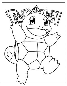 squirtle coloring pages Pinterest