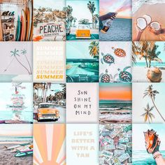 beach aesthetic photo collage *DIGITAL* no images mailed to you