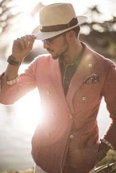 Mario Di Vaio MDV Style Lubiam jacket G-Shock watch Gstar sunglasses MDV jewels Borsalino hat Baronio Uomo trousers #streetstyle #men