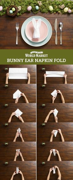 Tutorial: Delight Everybunny with Our Bunny Ear Napkin Fold - Discover, A World Market Blog #DiscoverWorldMarket