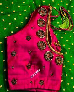 Saree Jacket Designs, Saree Kuchu Designs, Best Blouse Designs, Simple Blouse Designs, Dress Neck Designs, Bridal Blouse Designs, Pink Blouse Design, Hand Work Blouse Design, Peacock Embroidery Designs