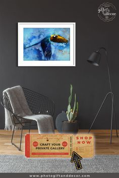 Hyacinth Macaw Habitat - Mixed Media Art - Photo Gift and Decor Living Room Decor, Bedroom Decor, Wall Decor, Wall Art, Decor Room, Bob Marley, Luxury Home Accessories, Ideas Cafe, Media Wall