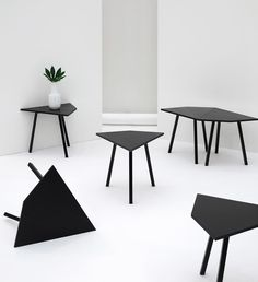Favoring constructivism, the Greatest Hits collection of modern furniture, from Tebian, features sharp lines and absolute symmetry.