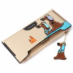 Women's Long Wallets With Adorable Puppy Design