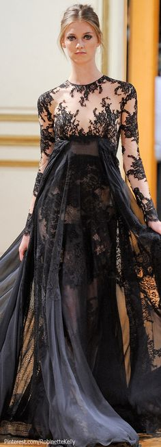 Zuhair Murad Haute Couture  I would probably get married in this black dress.