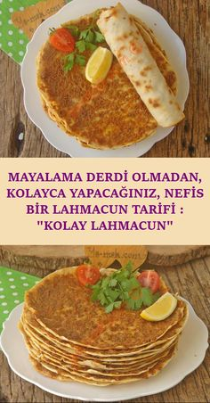 Di er lahmacunlara g re ok daha kolay ve zahmetsizce haz rlayabilece iniz nefis bir lahmacun tarifi # Fun Easy Recipes, Easy Meals, Healthy Recipes, Smoothie Recipes, Soup Recipes, Turkish Recipes, Ethnic Recipes, Good Food, Yummy Food
