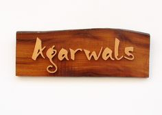 Panchatatva are manufacturers and suppliers of exclusive and unique wood based door nameplate and wall name plates which can be customised and personalised as per requirement. You may wish to choose from a dark wooden base or a light one depending on the background colour of your door or wall. This name plate can be manufactured in different size.