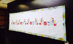 Owl Embroidered Panel/Table runner by SewCutePatches on Etsy