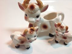 Cow creamer salt and pepper set Daisy milk cow by BlessedBeeMelisa, $19.95