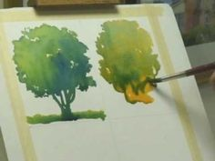 Watercolor Lessons - Tree Techniques 2, Frank M. Costantino by lorna