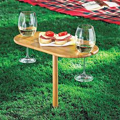 A Bob project. Perfect for the beach!! Toast-for-Two Wine Table at Wine Enthusiast - $24.95