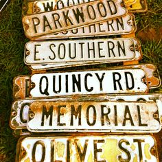Vintage street signs