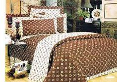 Lv Louis Vuitton Satin Bedding Set Bedroom Bed Closet