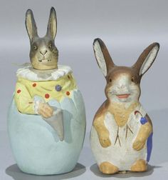 Rabbit Candy Containers Paper Mache